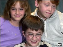Emma Watson, Daniel Radcliffe and Rupert Grint in 2000.