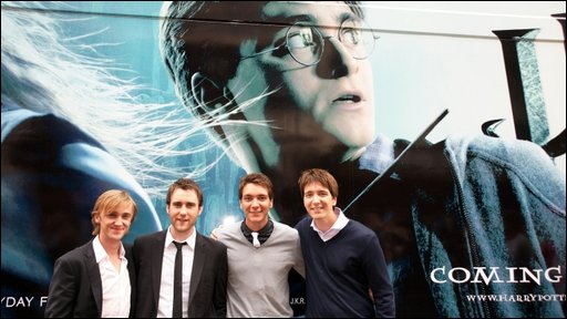 Tom Felton, Matthew Lewis, James Phelps and Oliver Phelps