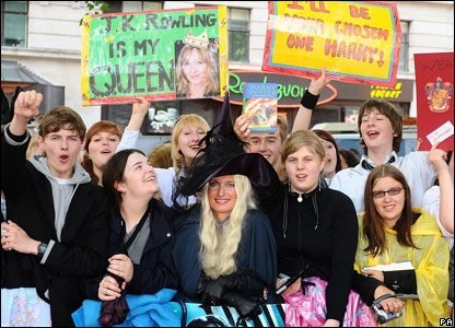 Potter fans at the world premiere of Harry Potter and the Half-Blood Prince, in London