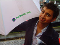 Ricky with his Newsround umbrella