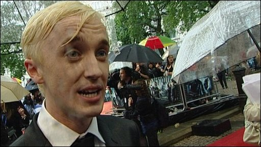 Tom Felton at the Half Blood Prince premiere