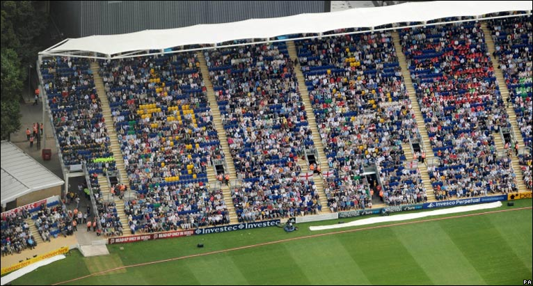 Glamorgan's cricket stadium was full for the first time for the historic