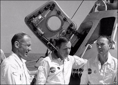 Neil Armstrong, Buzz Aldrin and Michael Collins.