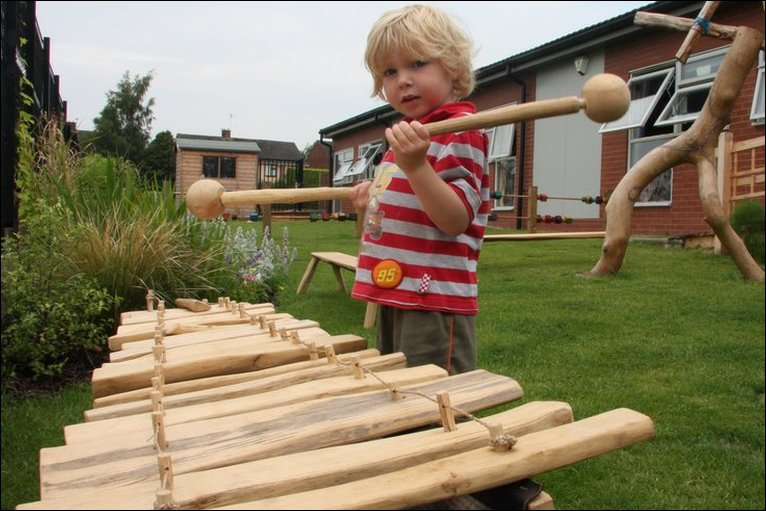 Good The New Sensory Garden At Footsteps Nursery In Oswestry