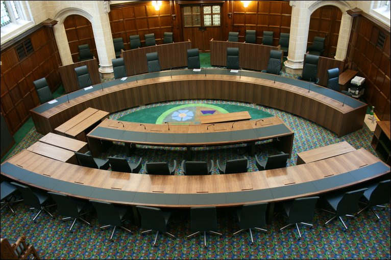 One Of The Traditional Court Rooms At The Supreme Court