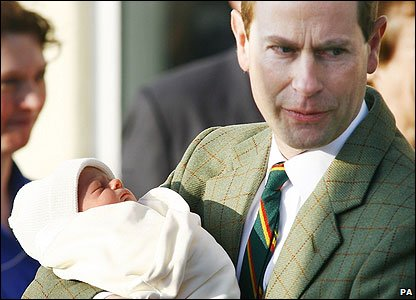 Prince Edward, the Earl of Wessex, and his son James Alexander Philip Theo.