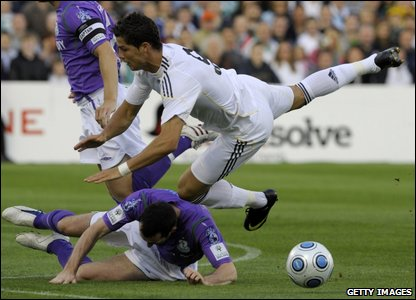 Ronaldo being tackled