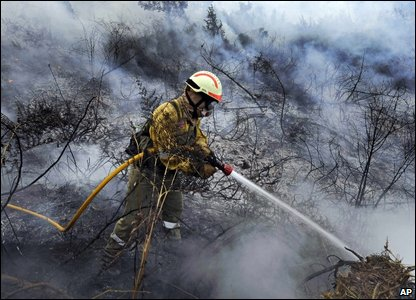 Firefighter in Spain