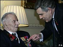 Harry Patch and Prime Minister Gordon Brown