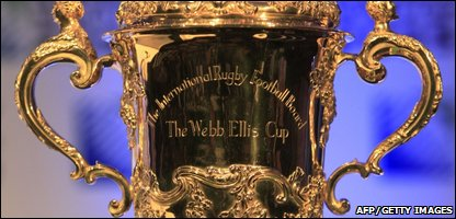 The Webb Ellis Cup or Rugby Union World Cup