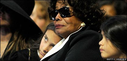 Paris and Prince Michael II Jackson with Katherine Jackson