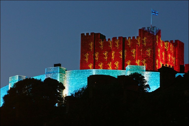 Bbc news in pictures in pictures dover castle dover castle lit up sciox Image collections