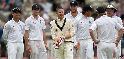 Michael Clarke and England cricketers