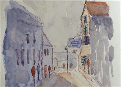 One of Kieron's watercolour paintings
