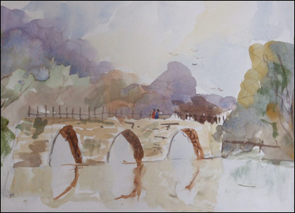 One of Kieron's watercolour landscapes