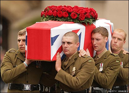 Pall bearers at Harry Patch's funeral