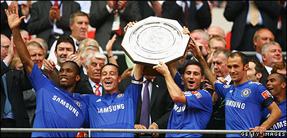 Chelsea lift the Community Shield