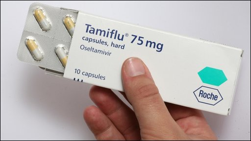 Flu treatment with of tamiflu