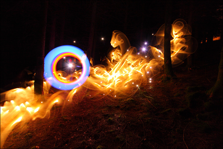 Bbc news uk wales in pictures light graffiti for Light art definition