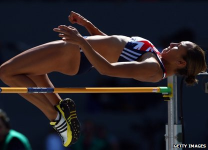 Jessica Ennis in the high jump