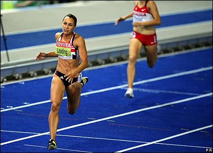 Jessica Ennis in the 200m