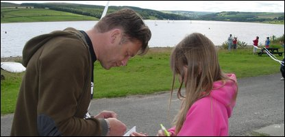 Chris Packham and Freya