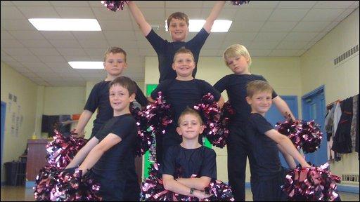 CBBC Newsround   UK   NR meets the all-boy cheerleaders