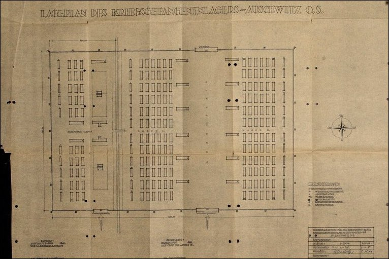 Bbc news in pictures in pictures auschwitz blueprints blueprint drawing for auschwitz picture courtesy of bild malvernweather Gallery