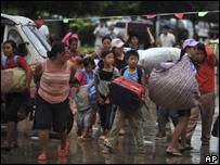 進入南傘的難民
