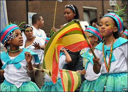 Girls at the Notting Hill Carnival