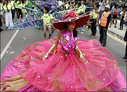 A girl at the Notting Hill Carnival