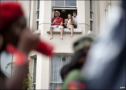People watch the Notting Hill Carnival