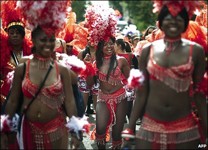 Adults take part at the Notting Hill Carnival