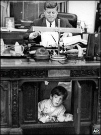 President John F Kennedy and his John Jnr
