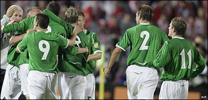 Northern Ireland celebrate their draw