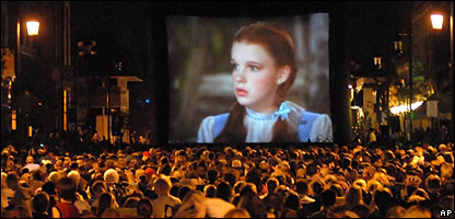 A screening of the Wizard of Oz
