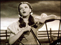 Judy Garland in the Wizard of Oz film
