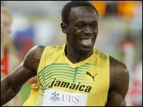CBBC - Newsround - Fastest man adopts fastest animal