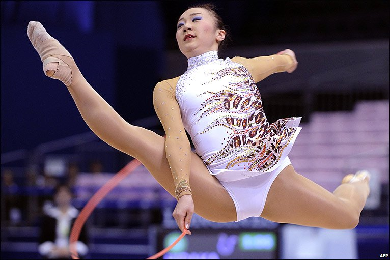 Japanese gymnast at Rhythmic Gymnastic World Championships in Japan