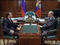 普京和梅德韋杰夫會面(9/9/2009)