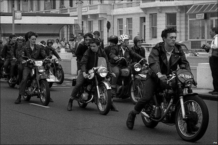 BBC - In Pictures: Mods and Rockers in Sussex 1964