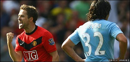 Michael Owen and Carlos Tevez