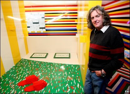 James May and his Lego bed