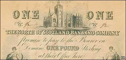 The record-breaking Scottish pound note