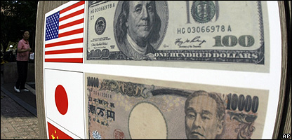 An American dollar and a Chinese Renminbi