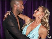Hollyoaks actor Ricky Whittle and his dance partner Natalie Lowe