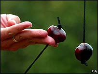 Conker on a string