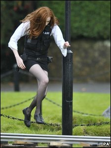 Karen Gillan, who plays the Doctor's new assistant