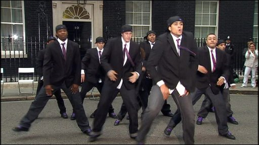 Diversity dancing at Downing Street