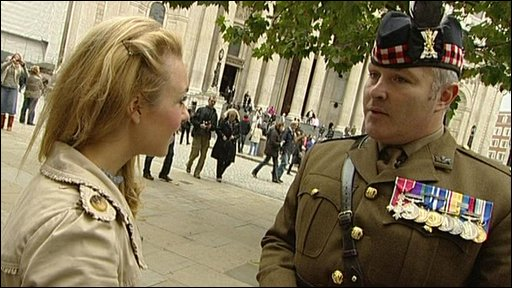 Hayley and Lt Col Adam Girffiths
